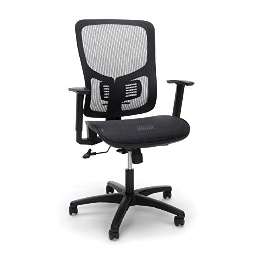 OFM Essentials Collection Mesh Seat Ergonomic Office Chair with Lumbar Support, in Black (ESS-3055-BLK)