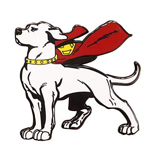 Superman Krypto the Superdog Enamel   DC Comics Worlds   Pin Double Post Back   Perfect for New Tote Bag Coming Later   Great Item for Superman Fans