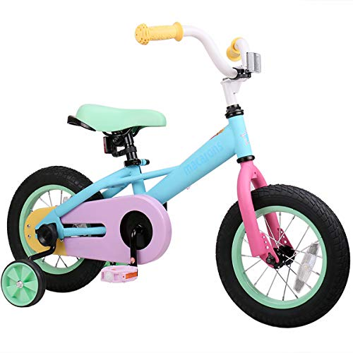 JOYSTAR 12 Inch Kids Bike for 2 3 4 Years Girls, Toddler Bike with Training Wheels for 2-4 Years Old Child, 85% Assembled