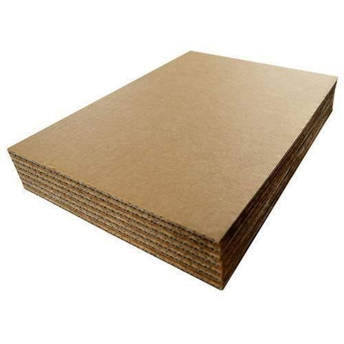 Corrugated Cardboard Filler Insert Sheet Pads 1/8' Thick - 12 x 12 Inches for Packing, mailing, and Crafts - 25 Pack