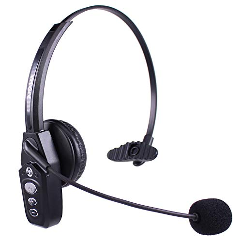 Bluetooth Headset V5.0, Pro Wireless Headset with Noise Canceling Mic for Cell Phone Trucker Engineers Business Home Office