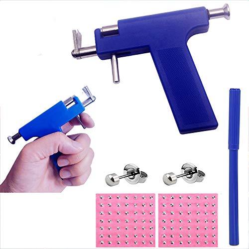 Ear Piercing Gun Body Piercing Tool Kit with 98 pcs Ears Studs Nose Navel Piercing Machine