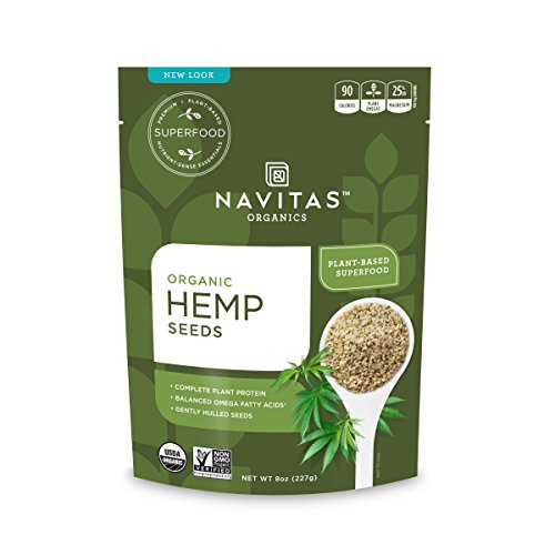 Navitas Organics Hemp Seeds, 8 oz. Bag — Organic, Non-GMO, Low Temp-Hulled, Gluten-Free