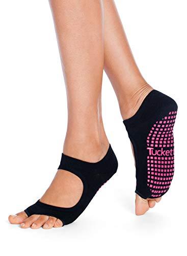 Yoga Pilates Socks for Women Non Slip, Toeless Non Skid Sticky Grip Sock - Pilates, Barre, Ballet