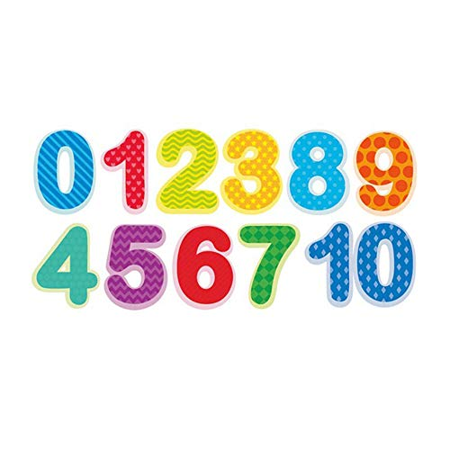 Home Find Counting Numbers Wall Stickers Colorful Wall Decals Arabic Numerals 0-10 Educational Kid Wall Letter Vinyl Decals for Classroom School Nursery Baby Rooms