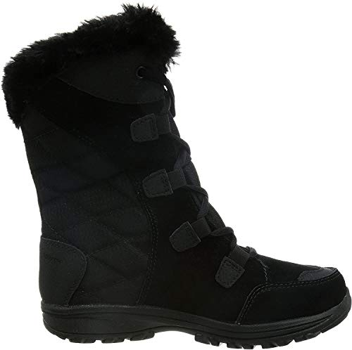 Columbia Women's ICE Maiden II Snow Boot, Black, Grey, 6.5 B US