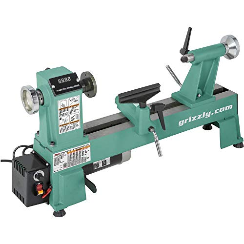 Grizzly Industrial T25920 - 12' x 18' Variable-Speed Benchtop Wood Lathe