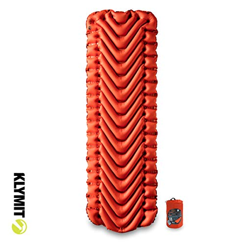 KLYMIT INSULATED STATIC V Sleeping Pad, Lightweight, Outdoor Sleep Comfort for Backpacking, Best Gear for Cold Weather Camping, and Hiking, Inflatable Camping Mattress
