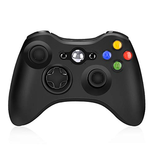 Wireless Controller for Xbox 360, Y Team 2.4GHz Game Controller Gamepad Joystick Wireless Controller for Xbox 360 Console and PC Windows 7/8/10 (Black)