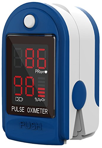 ClinicalGuard CMS 50-DL Fingertip Pulse Oximeter with Neck/Wrist Cord, Blood Oxygen Saturation and Heart Rate Monitor