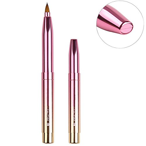 Zoreya Fashion Gradient Color Retractable Lip Brush Travel Lipstick Gloss Makeup Brush Tool As Christmas Gifts