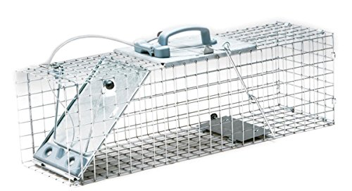 Havahart 1084 Easy Set One-Door Cage Trap for Rabbits, Skunks, Minks and Large Squirrels