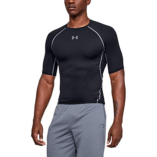 Under Armour Men's HeatGear Armour Short-Sleeve Compression T-Shirt , Black (001)/Steel , XX-Large Tall