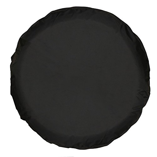 Moonet PVC Thickening Leather Spare Tire Wheel Cover for Car Truck SUV Camper Trailer Universal Fit RV JP FJ,R15 M Black (for Overall Wheel Diameter 27-30 inch)