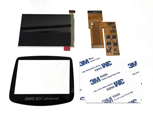 RGRS FunnyPlaying Game Boy Advance v2 IPS Backlight Mod Kit GBA with Storage Box