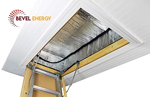 Premium Energy Saving Attic Door Insulation Stairway Cover R-15.5 Stair Ladder Opening Attic Tent with Easy Access Zipper 25' x 54' x 11'