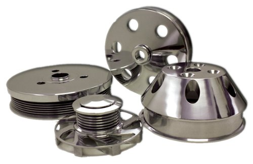 Compatible/Replacement for CHEVY SMALL BLOCK BILLET SHORT WATER PUMP SERPENTINE PULLEY SET - MACHINED