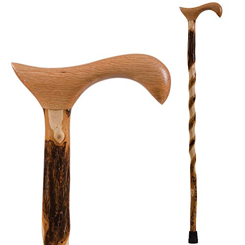 Brazos Walking Cane for Men and Women Handcrafted of Lightweight Wood and made in the USA, Hickory, 34 Inches