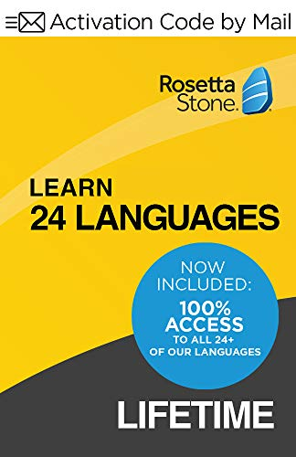 Rosetta Stone: Learn Unlimited Languages with Lifetime Access - Learn 24 Languages (Activation code by Mail)