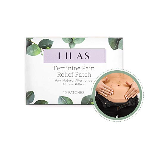 LILAS Pain Relief Patch (10 Pack) - Natural Relief for Menstrual Period Cramps | Designed for PMS & Endometriosis Pain Relief | Plant Based