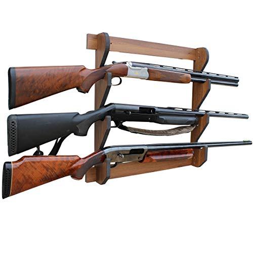 Rush Creek Creations Indoor 3 Rifle/Shotgun Wall Storage Display Rack