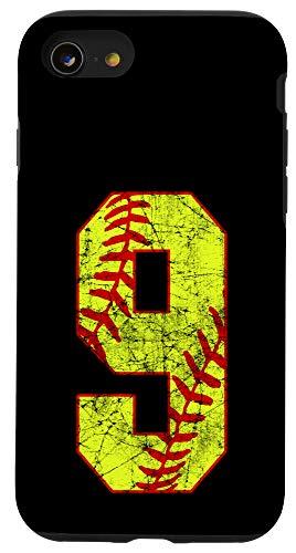 iPhone SE (2020) / 7 / 8 Softball #9 Fast Pitch Love Softball Mom Favorite Player Case