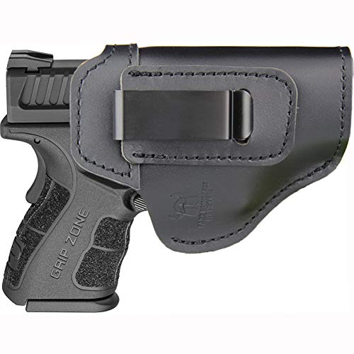 IWB Holster Fits: XD MOD.2 3″ 3.3″ SUB Compact Model 9mm .40sw .45ACP / XD 3″ / Xdm 3.8″ Compact and Full Size/XDS 3.3″ Single Stack/XDE 3.3″ - Inside Waistband Concealed Carry (Right Side)