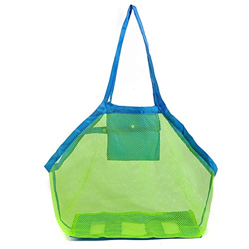 EXKOKORO Ultra Large Mesh Beach Bag Tote, Beach Toys Organizer Storage Bags, Toys & Shell Bag Stay Away from Sand The Beach