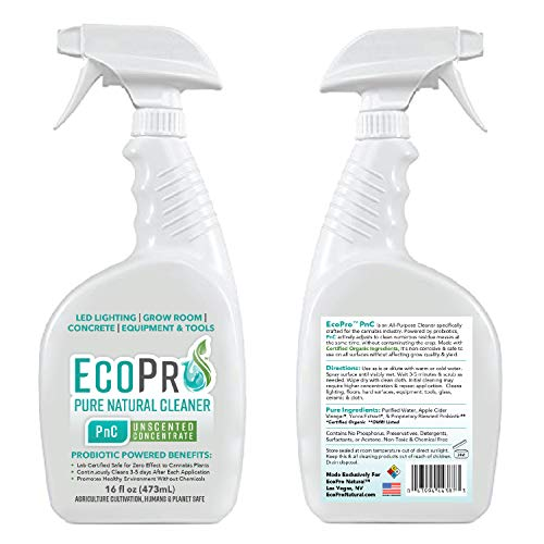 EcoPro Natural, Inc. 710-CGCU-016 Trig EcoPro PnC - PURE NATURAL CLEANER for Professionals, concentrated formula, 16 ou TRIGGER SPRAY, Unscented, 16 oz