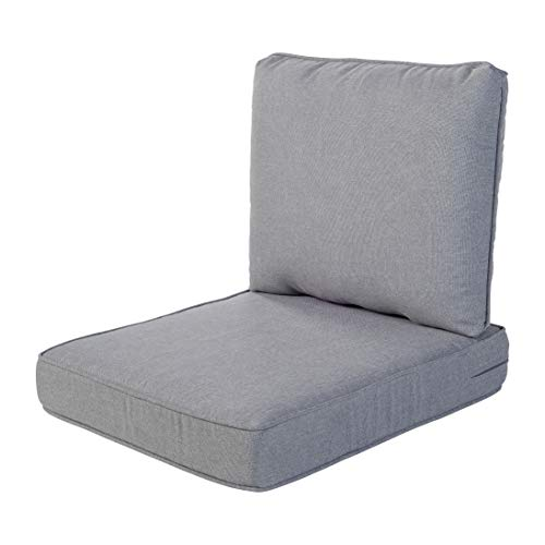 Quality Outdoor Living 29-MG02SB All-Weather Deep Seating Chair Cushion, 23 x 26, Machine Gray