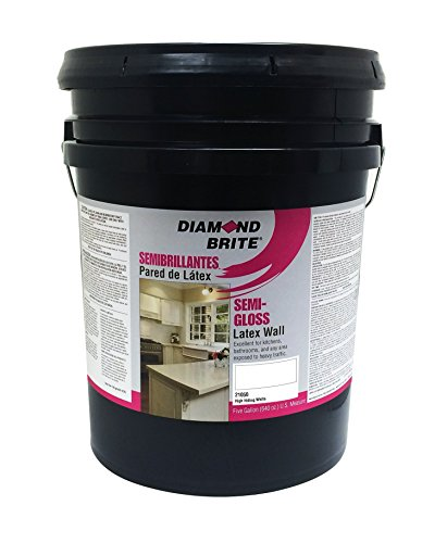 Diamond Brite Paint 21050 5-Gallon Semi Gloss Latex Paint High Hiding White