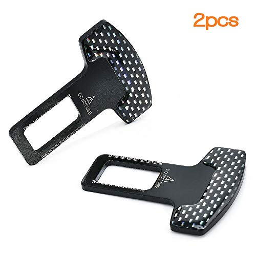 Car Seat Belt Clip, Anceev Universal Seat Belt Buckle Auto Metal Seat Belts Clip 2 Pack
