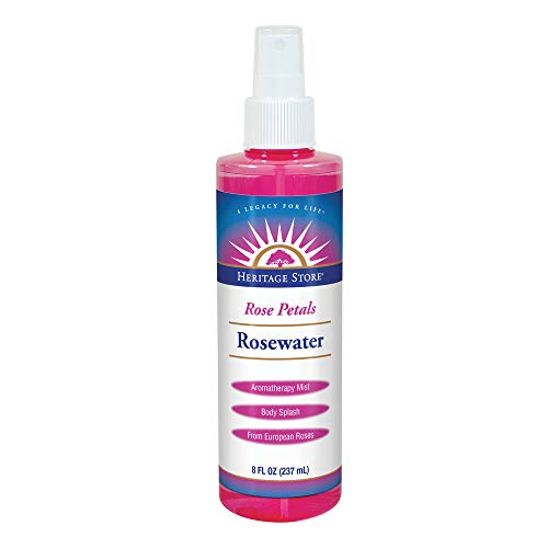 Heritage Store Rosewater Spray   Hydrating Mist for Skin & Hair   No Dyes or Alcohol   Vegan   8 oz
