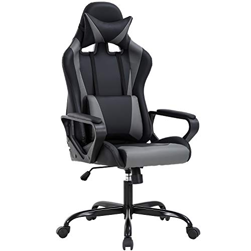 PC Gaming Chair Ergonomic Office Chair Desk Chair Executive Task Computer Chair Back Support Modern Executive Adjustable Arms Rolling Swivel Chair for Women, Men