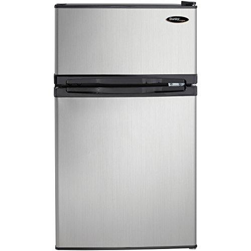 Danby DCR031B1BSLDD 3.1 cu. ft. 2 Door Compact Refrigerator, Steel
