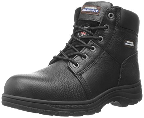 Skechers for Work Men's Workshire Relaxed Fit Work Steel Toe Boot,Black,11 M US