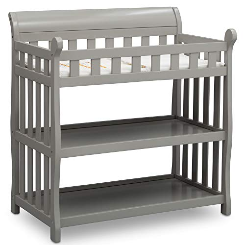 Delta Children Eclipse Changing Table with Changing Pad, Grey