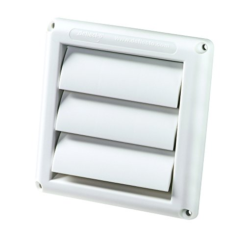 Deflecto Supurr-Vent Louvered Outdoor Dryer Vent Cover, White, 4' Hood (HS4W/18)