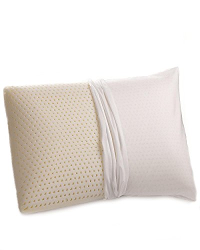 100% Talalay Natural Latex Pillow with GOTS Certified Organic Cotton Cover (Standard, Soft), Soft Bed Pillow for Sleeping, for Back, Stomach and Side Sleepers, Helps for Back, Neck and Shoulder Pain