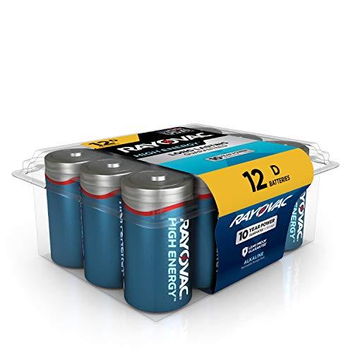 Rayovac D Batteries, Alkaline D Cell Batteries (12 Battery Count)
