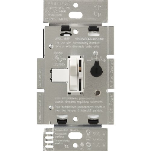Lutron Ariadni/Toggler LED+ Dimmer | 150-Watt, Single-Pole/3-Way | AYCL-153P-WH | White