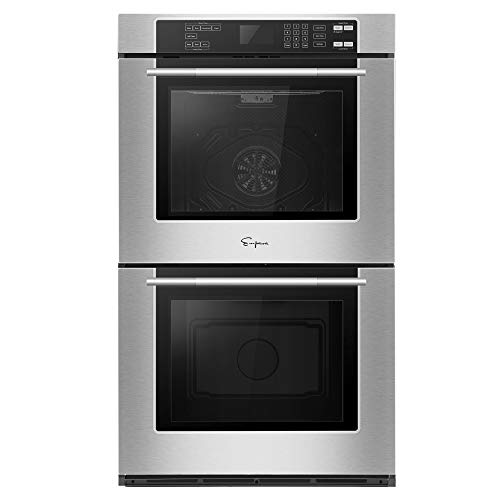 Empava 30 in Electric Double Wall Built-in Self-cleaning Convection Fan Touch Control Ovens, 30 Inch