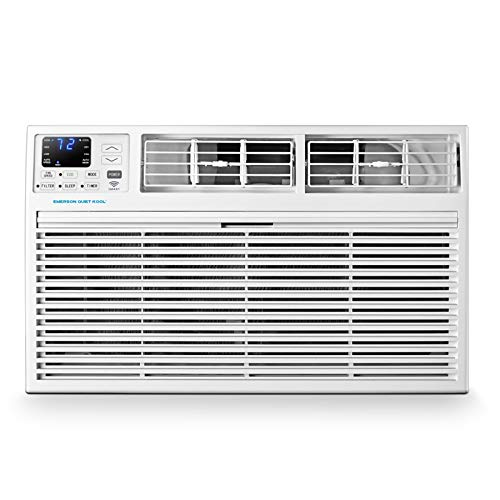 Emerson Quiet Kool 230V 12,000 BTU Smart Through-The-Wall Air Conditioner with Remote, Wi-Fi, and Voice Control, 12000 WiFi, White