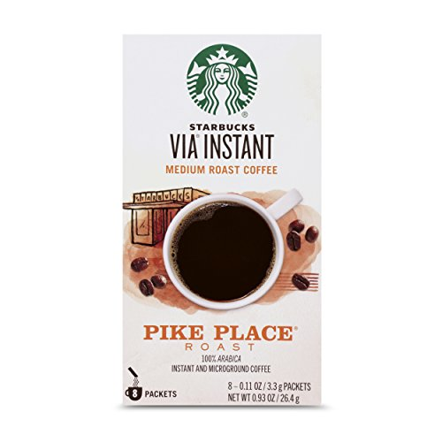 Starbucks VIA Instant Coffee Medium Roast Packets — Pike Place Roast — 1 box (8 packets)