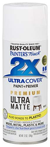 Rust-Oleum 331181 Painters Touch 2X Spray Paint, Matte White