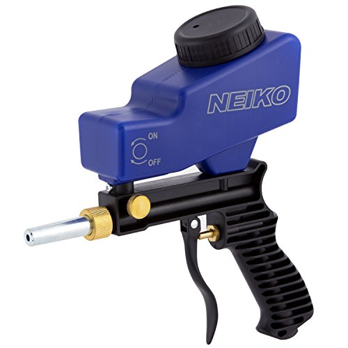 Neiko 30068A Abrasive Air Sand Blaster Handheld Gun   Replaceable Steel Nozzle   Various Media Compatible Gravity Feed Hopper