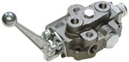 CROSS Manufacturing 131135 SBA2 Series Cast Iron Single Spool Monoblock Hydraulic Directional Control Valve, 3-Position, 4-Way, Open Centered, 3/4' x 3/4' x 1/2' NPT Female, 2500 psi, Grey