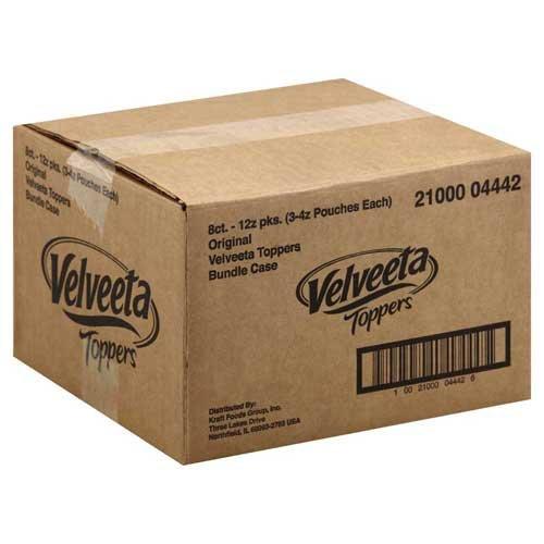 Velveeta Original Processed Cheese Sauce Pouch, 12 Ounce -- 8 per case.