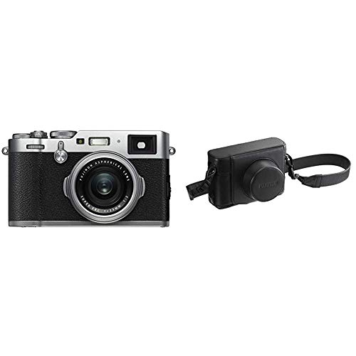 Fujifilm X100F 24.3 MP APS-C Digital Camera-Silver Bundle with Fujifilm LC-X100F Leather Case - Black