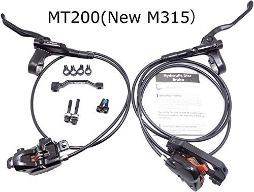 JGbike Shimano MT200 MTB Hydraulic Disc Brake Set for Mountain Bike Bicycle MTB XC Trail, e-Bike, Fat Bike, The Best Upgrade kit for Mechanical Disc Brake